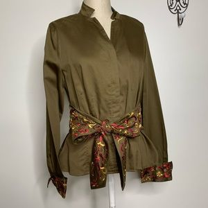 VTG Stunning Fitted Embroidered Blouse by Spirit